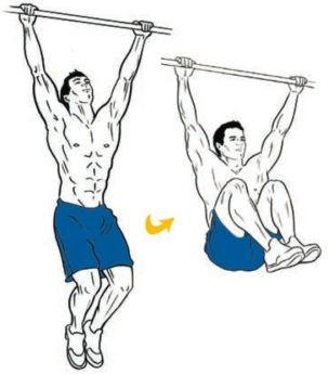 Image result for Hanging knee raise